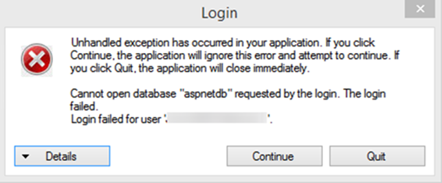 User Sync Error